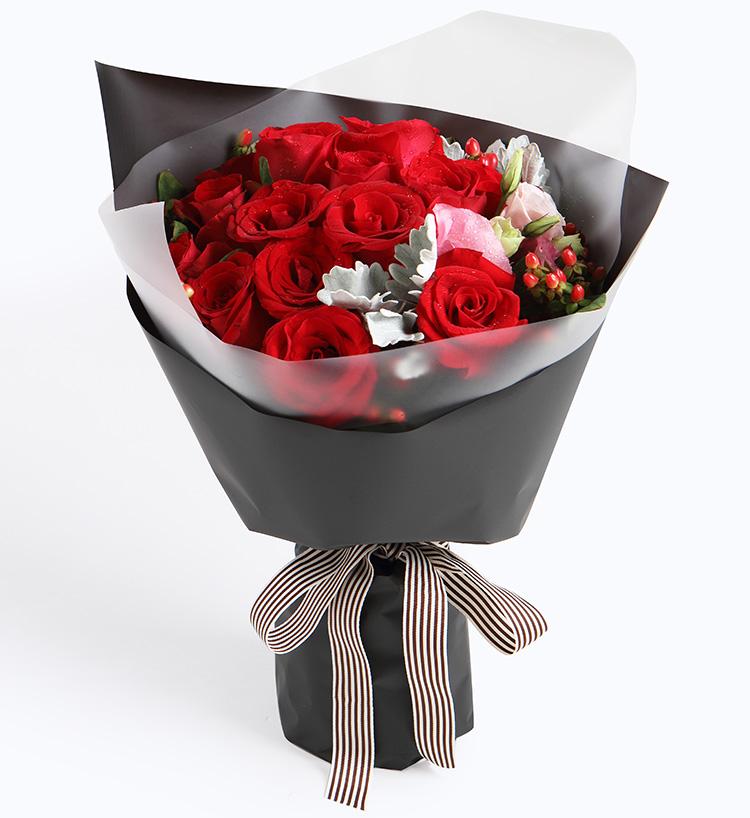 16枝紅玫瑰