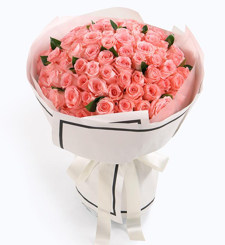 粉玫瑰99枝