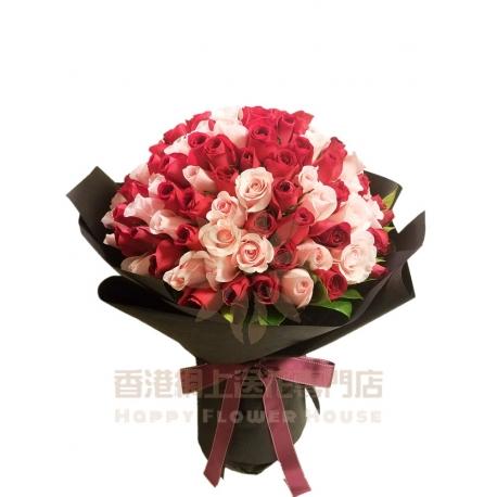 128枝玫瑰