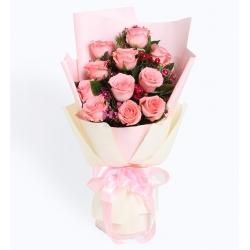 粉玫瑰11枝