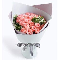 粉玫瑰33枝