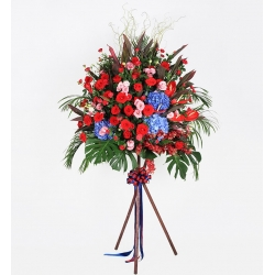 Opening flower basket E