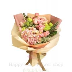 Pink rose and powder...