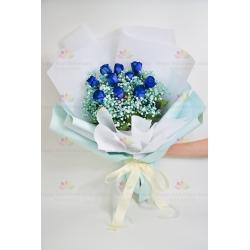 [極緻罕有]荷蘭空運藍色10玫瑰