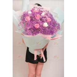 Purple star bouquet (1...