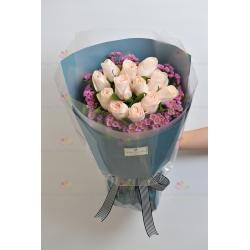 永遠的愛(12枝粉玫瑰)*簡約版