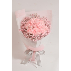 Love is you (18 pink roses,...
