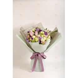 獨特魅力(紫豌豆花、粉豌豆花、綠桔梗、尤加利)