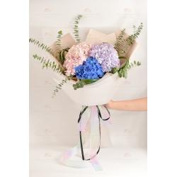 祈願(3色繡球花)