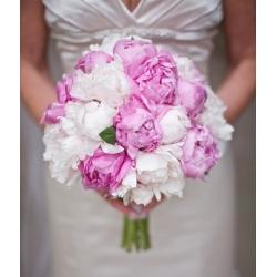 青春浪漫的粉紅結婚花球