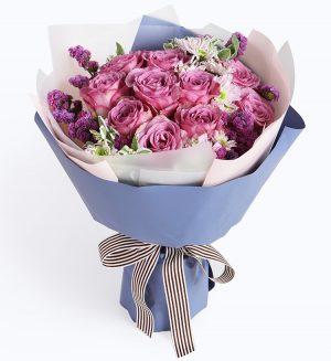 紫玫瑰11枝
