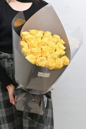 25枝空運肯亞黃玫瑰