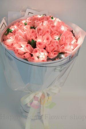粉玫瑰99枝閃亮版