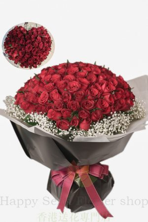 限時優惠-人氣求婚之選*心形99枝紅玫瑰