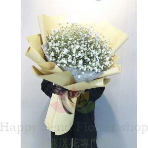 韓式巨型滿天星花束