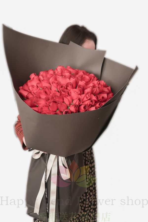 韓式巨型99紅玫花束
