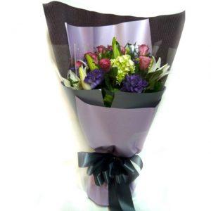 教師節禮物排行榜 玫瑰繡球百合花束