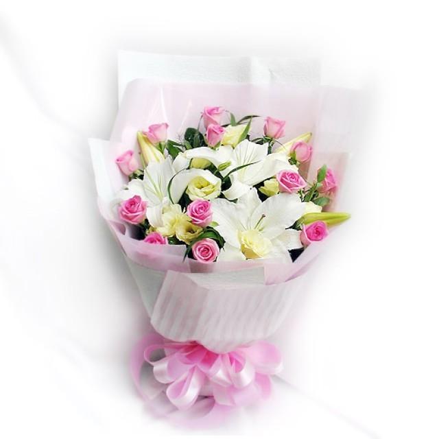 香水百合 玫瑰花束