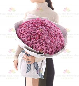 伴你久久(99紫玫瑰花束)