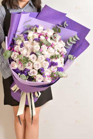 只愛妳一人(50支紫玫瑰)