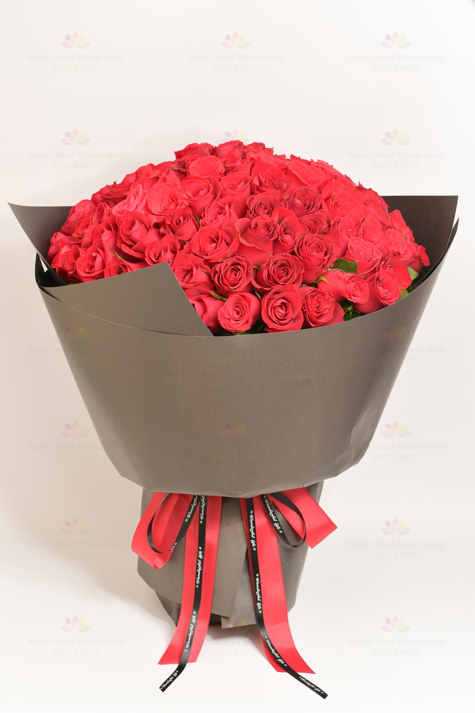 肯雅紅玫瑰99枝花束