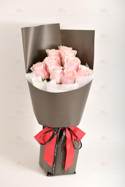 美好的祈願(9支肯亞/哥倫比亞頂級玫瑰)