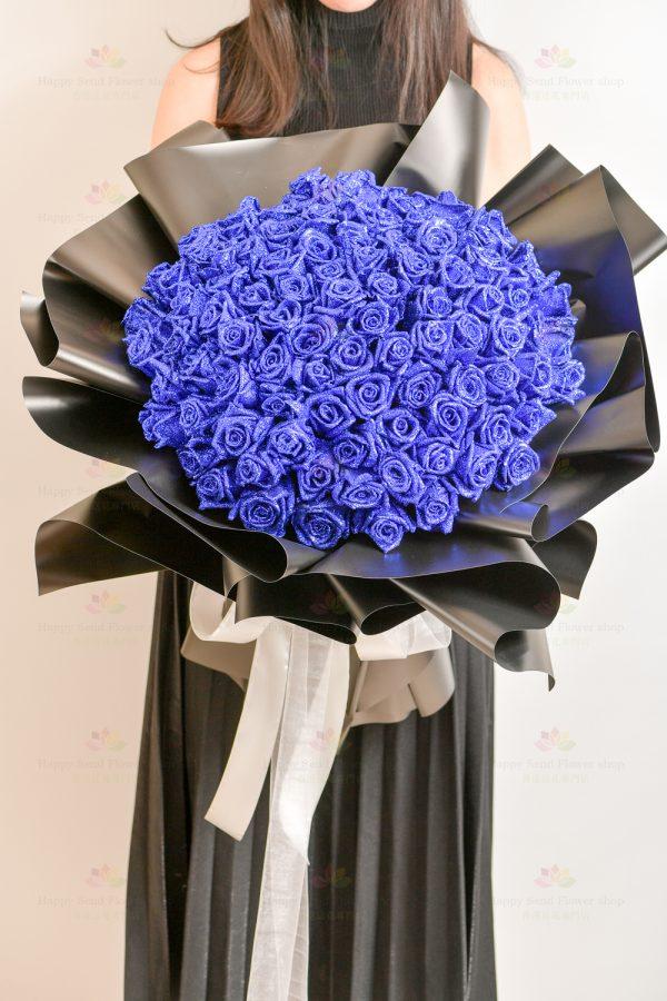 特別日子(99枝閃爍藍玫瑰)