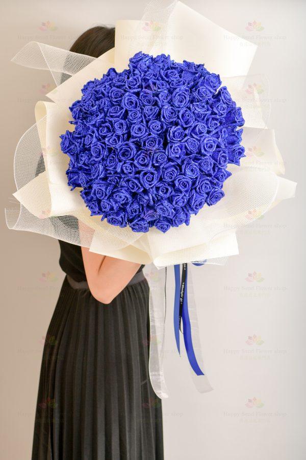 特别的爱只给特别的妳(99枝閃爍藍玫瑰)