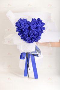 清純的愛(50枝閃爍藍玫瑰)