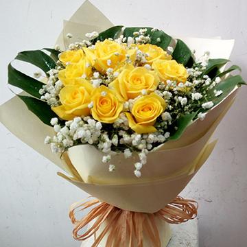 19朵黄玫瑰