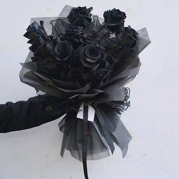 獨一無二(9枝黑玫瑰)