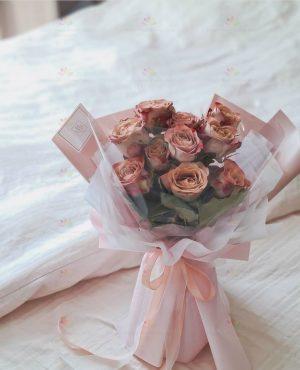 獨特古典咖啡玫瑰(10枝咖啡玫瑰)