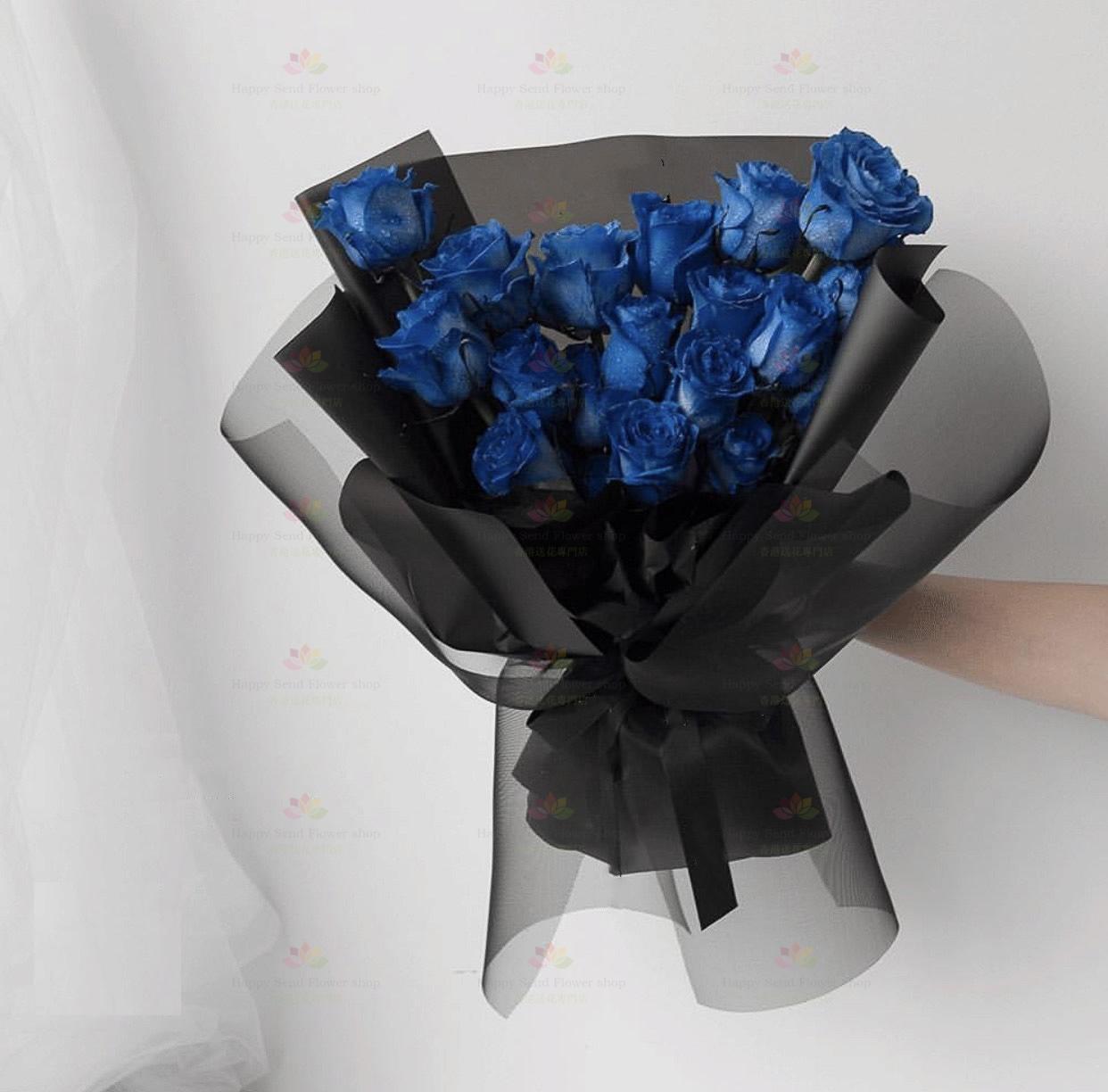 愛情故事(18枝深藍玫瑰)