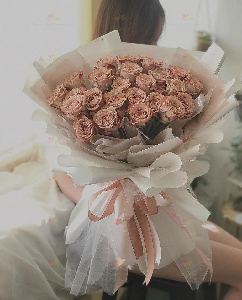 獨特古典咖啡玫瑰(25枝咖啡玫瑰)