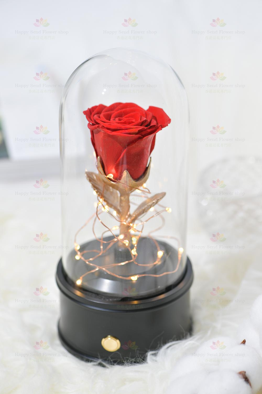 永生花單枝玫瑰藍牙喇叭(紅色)