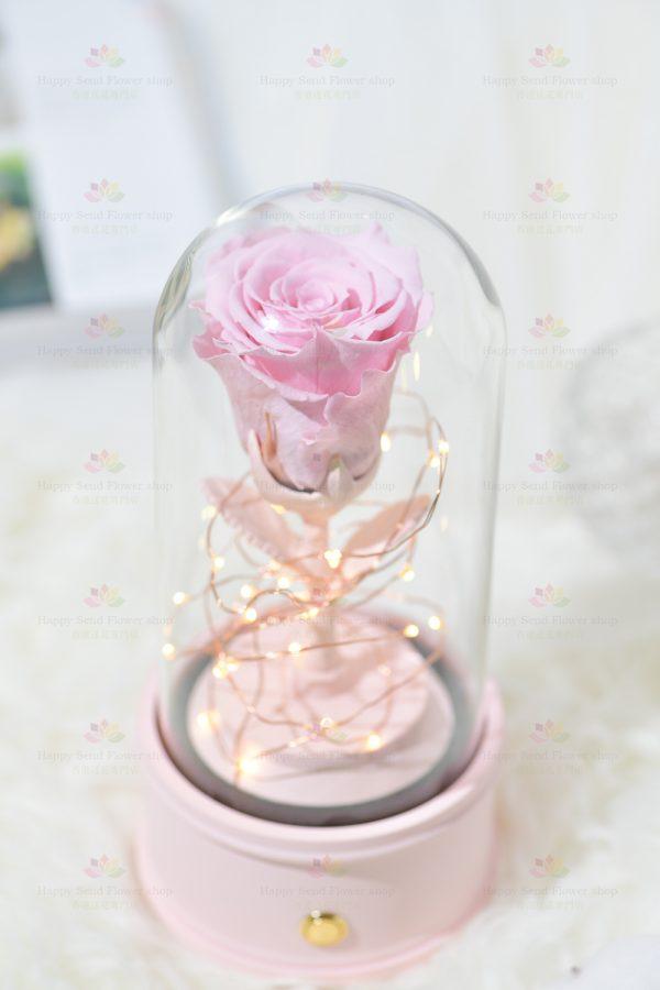 永生花單枝玫瑰藍牙喇叭(粉色)