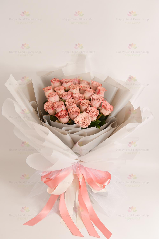 韓系女友之選~氣質復古卡布奇諾玫瑰(25枝咖啡玫瑰)(採用進口玫瑰)