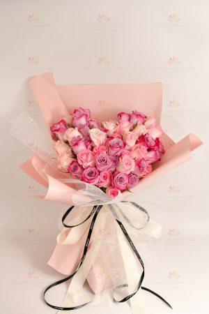我愛你(粉紫玫)(50枝進口混色粉、紫玫瑰)
